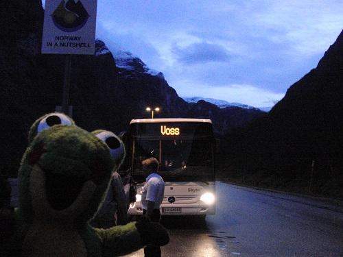 Voss行きのバス