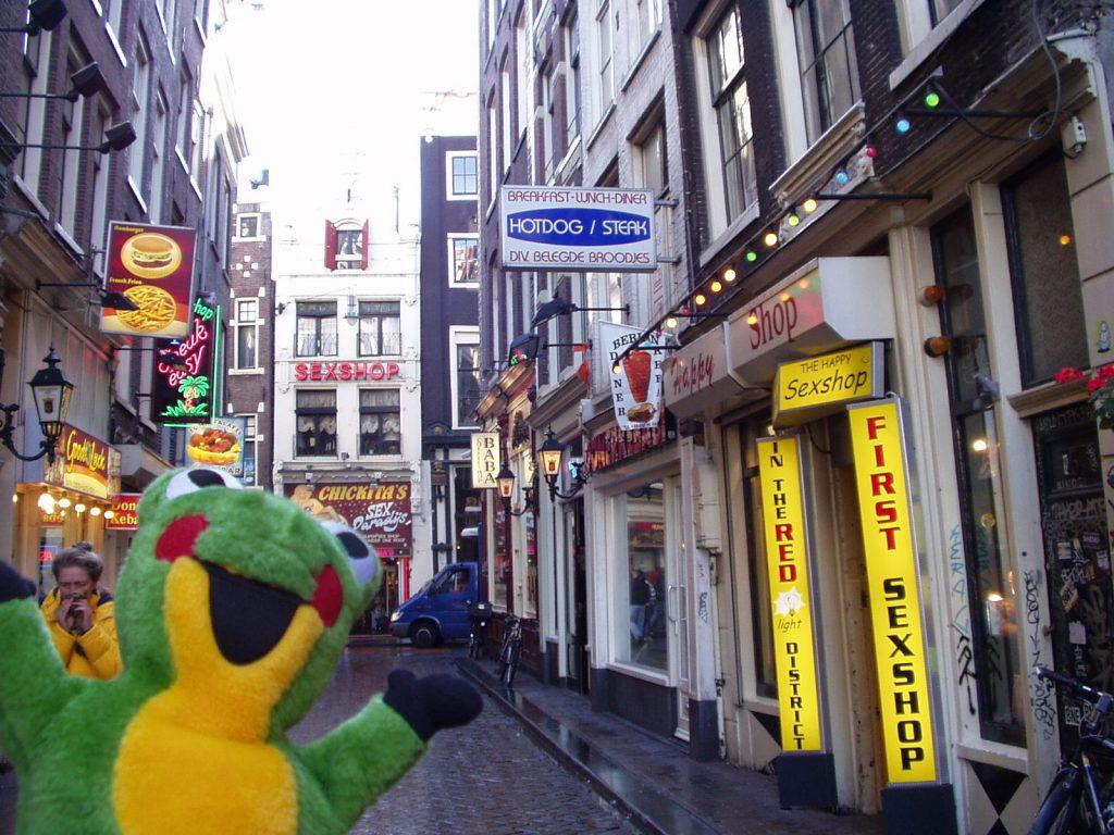 アムステルダム飾り窓地帯の近く